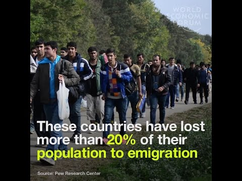 Over a fifth of these countries' populations have emigrated