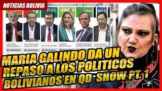 ???? Opinion de Maria Galindo: Tuto Quiroga, Arturo Murillo, Alvaro Garcia Linera, Luis Arce Catacora ????