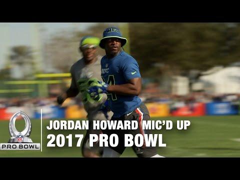Jordan Howard Mic'd Up at the 2017 Pro Bowl Practice | NFL