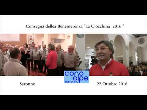 """Bombardano Cortina  : Coro Alpe::Assegnazione della Benemerenza La """" Ciocchina """"  2016 : Coro Alpe"""