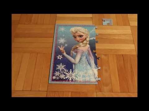 Video: Queen Elsa Frozen Puzzle - Timelaps