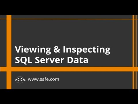 Viewing and Inspecting SQL Server Data