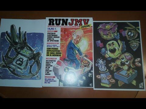 """Reseñas de papel: RUN """"JMV"""": Ilustrando los juegos de Spectrum (Jesús Martínez del Vas)"""