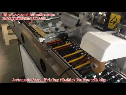 Pen with Clip Automatic Pen Screen Printing Machine