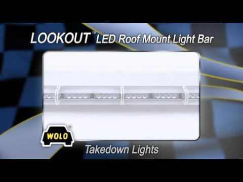 WOLO Lookout LED Lightbar - 88 Blue LEDs, 48in.L, Model# 7905-B