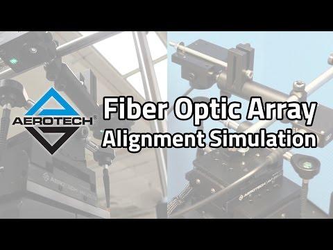 Fiber Optic Array Alignment Simulation