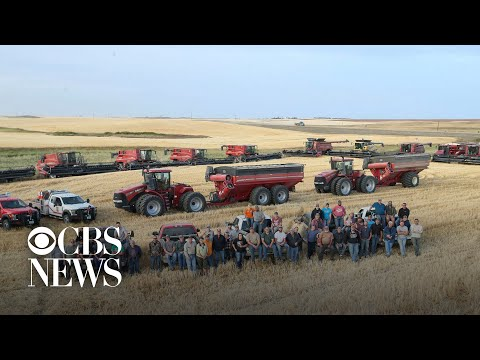 After he suffered a heart attack, 60 neighbors showed up to help a local farmer