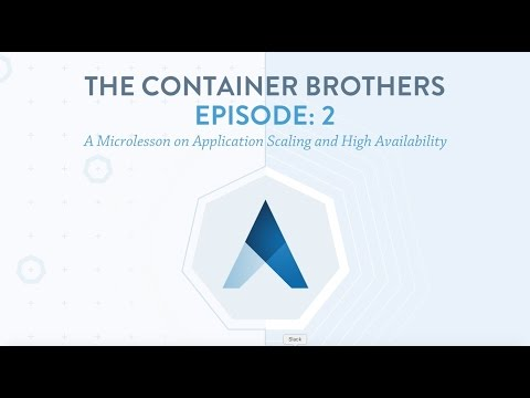 The Container Brothers 2: A Microlesson on Application Scaling and High Availability