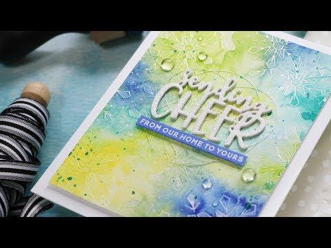 Liquid Watercolors w/Laura Bassen ft. MERRIEST SNOWFLAKE