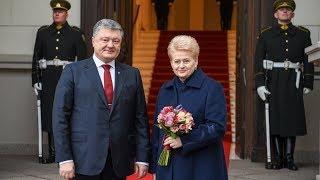 Prezidentė ir Ukrainos Prezidentas Petro Porošenka dalyvauja dvišalės Prezidentų tarybos posėdyje