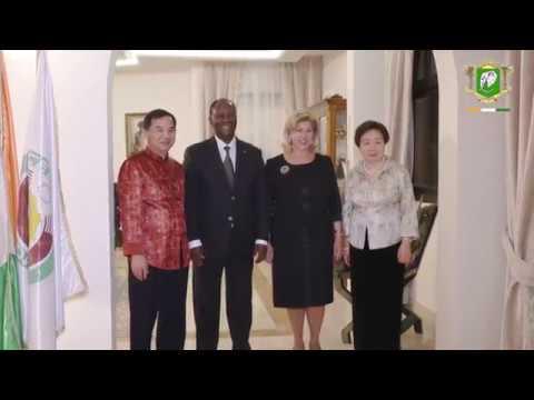 Réception en l'honneur de l'Ambassadeur de Chine, S.E.M.  TANG Weibin