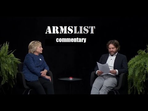 Hillary tries humor with Zach Galifianakis.....