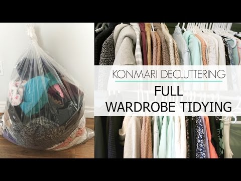 KonMari Decluttering | Before & After Tidying Clothing