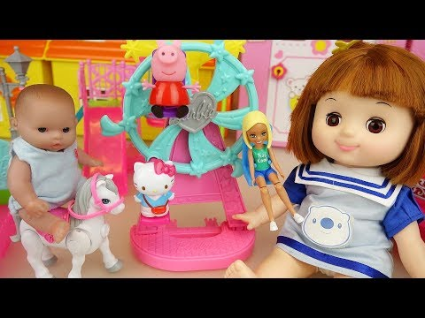 Baby Doll car and amusement park toys baby Doli surprise eggs play