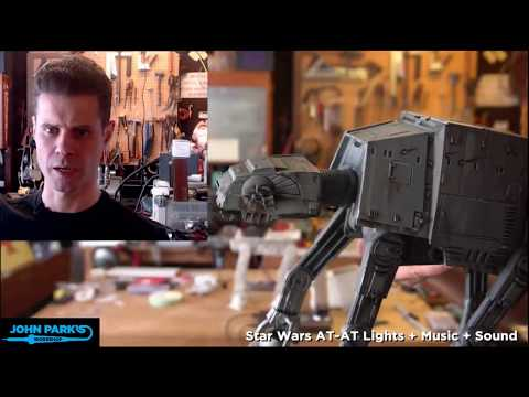 JOHN PARK'S WORKSHOP LIVE 1/18/18 Star Wars AT-AT Lights + Sound @adafruit @johnedgarpark #adafruit