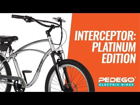 Pedego Interceptor: Platinum Edition - Premium Electric Cruiser Bike | Pedego Electric Bikes