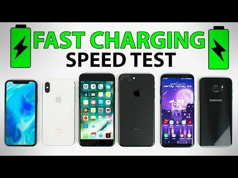 iPhone X vs Galaxy S8+ vs iPhone 8 Plus vs iPhone 7 Plus - FAST CHARGING SPEED TEST!