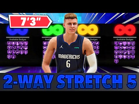 "FIRST  2 WAY STRETCH FIVE BUILD ON NBA 2K21 NEXT GEN! BEST 7'3"" CENTER BUILD ON NBA 2K21 NEXT GEN!"