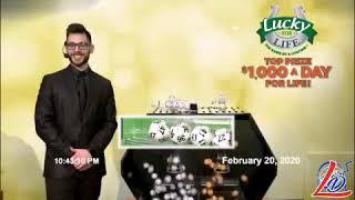 Sorteo del 20 de Febrero del 2020 (Lucky for Life, LuckyForLife)