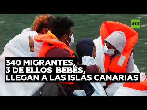 Llegan 340 migrantes a las Islas Canarias y suman cerca de 2.000 durante el fin de semana
