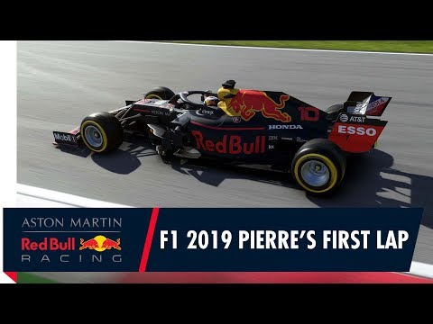 Pierre Gasly's first laps on F1 2019 at the Red Bull Ring