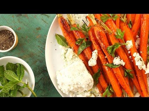 Roasted Carrots with Parsley Yogurt - Everyday Food with Sarah Carey