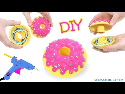 How To Make A Donut Jewelry Box Out Of Hot Glue – DIY Hot Glue Donut Jewelry Organizer