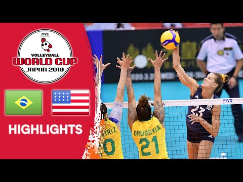 BRAZIL vs. USA - Highlights   Women's Volleyball World Cup 2019