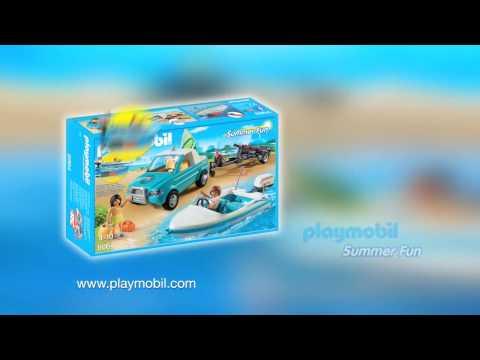 PLAYMOBIL presenteert... Rij met je gloednieuwe Pick-up naar het strand! (Nederlands)
