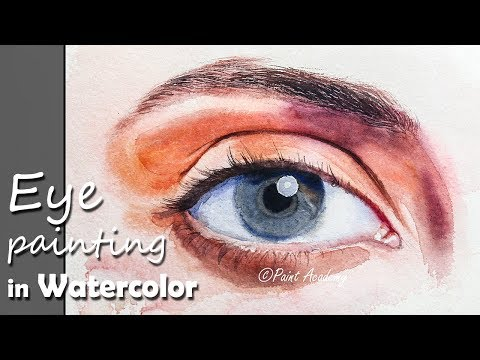Realistic Eye Painting in Watercolor step by step