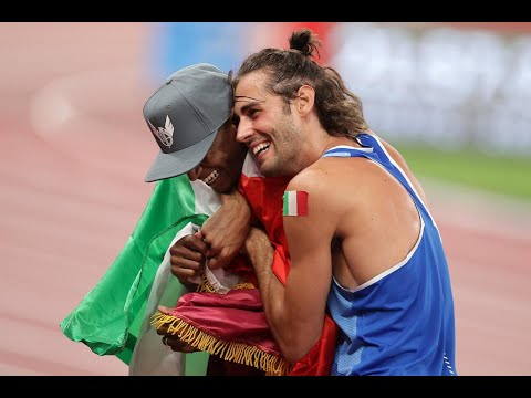 High jumpers from Italy and Qatar decide to share their gold medal