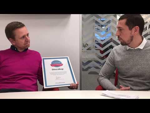 Discshop om utmärkelsen Årets e-handlare 2017
