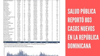 Salud Pública reportó 803 casos nuevos en el boletín 451 de la República Dominicana