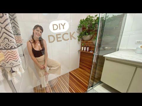 DIY Deck + Jardim Vertical dentro do Box!   Decorando o Banheiro 03