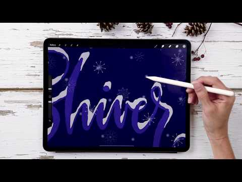 Snowfall Animation in Procreate 5