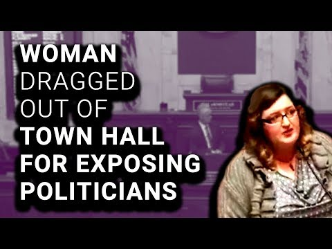 Woman Dragged Out of Town Hall for Listing Corporate Donors