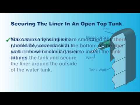Tank Liner Installation Instruction - Open Top and Closed Top Water Tanks