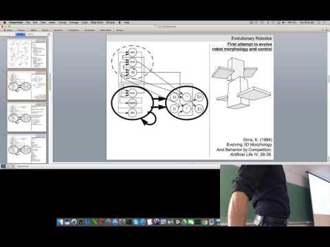 Lecture 23 of Evolutionary Robotics course at UVM (filmed Tues Apr 25, 2017)