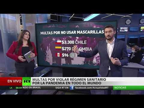 Multas por violar el régimen sanitario por la pandemia en diferentes países del mundo