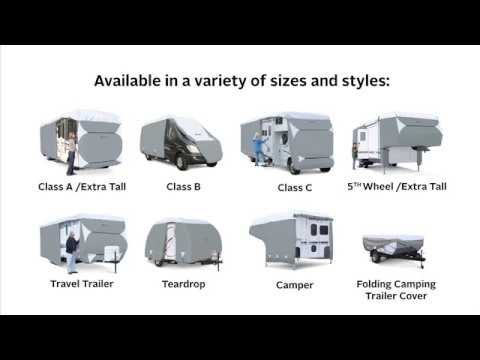Classic Accessories PolyPro III Deluxe Class C RV Cover - Fits 26ft.-29ft. RVs