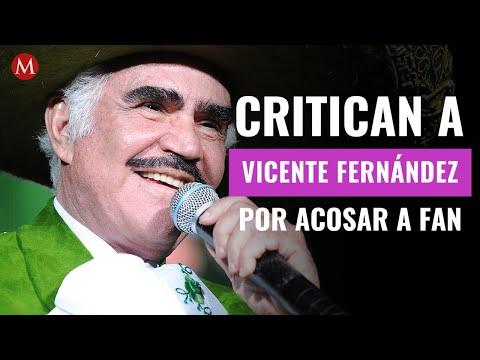 Critican a Vicente Fernández por acosar a joven; lo exhiben en Tiktok tocando a fan en foto