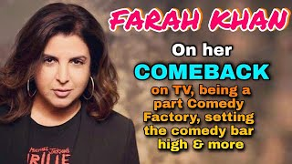 Farah Khan on her COMEBACK on TV, being the laughing buddha, setting the bars high, and more - TELLYCHAKKAR