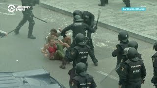 Протесты Барселоне: заблокирован