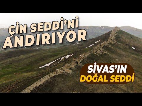 Sivas'ın Doğal Seddi İlginç Görüntüsüyle Dikkat Çekiyor