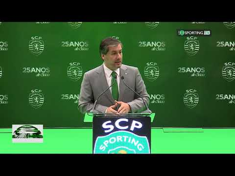 Discurso do presidente Bruno de Carvalho na cerimonia dos 25 anos de sócio 2017.