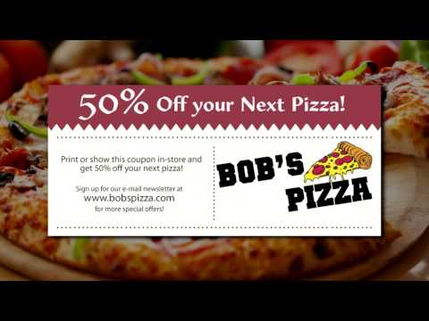 50% off your next Pizza - Bob's Pizza Coupon
