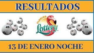 Lotería Florida Noche Resultados de hoy 13 de Enero del 2021