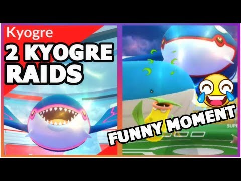 connectYoutube - KYOGRE RAIDS IN POKEMON GO   FUNNY WAILORD MOMENT & CATCHING KYOGRE
