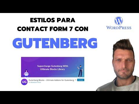 ✅  ESTILOS PARA CONTACT FORM 7 CON GUTENBERG