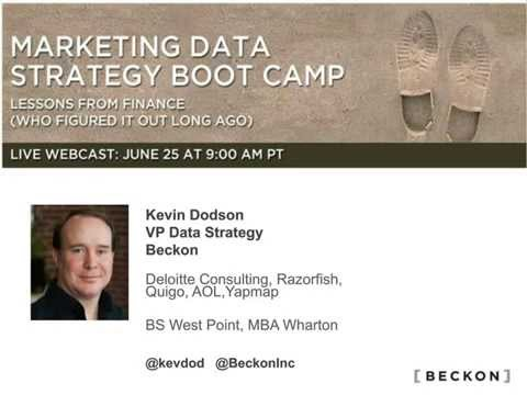 Marketing Data Strategy Boot Camp